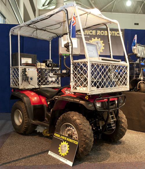 COLETEK's quadbike-based semi-autonmous mobile robot