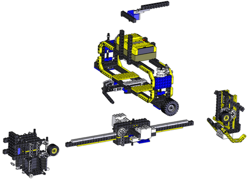 3D CAD for Lego Wall Climbing Robot